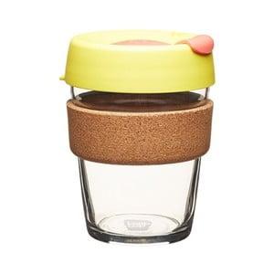 Cestovný hrnček s viečkom KeepCup Brew Cork Edition Safron, 340 ml