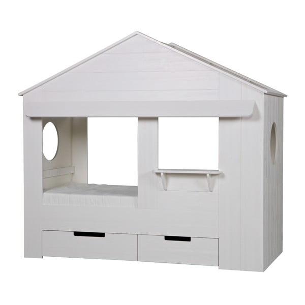 Biela detská posteľ DeEekhoorn Huisie