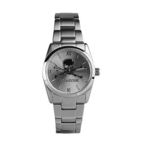 Unisex hodinky striebornej farby Zadig & Voltaire Pirate