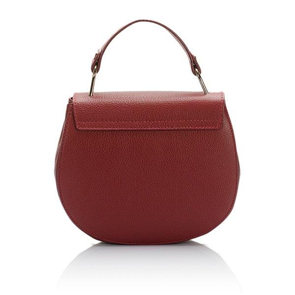 Červená kožená kabelka Giorgio Costa Dollaro