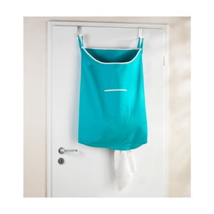 Tyrkysový závesný kôš na bielizeň Wenko Door Laundry, 65 l