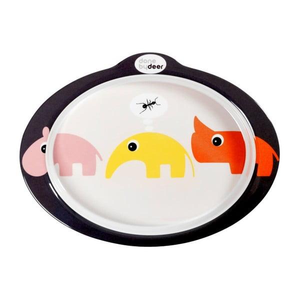 Protišmykový tanier s úchytmi Zoopreme, ružový