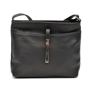 Čierna kožená kabelka Roberta M Béatrice