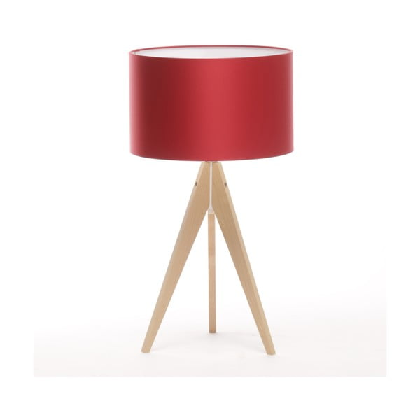 Stolná lampa Artist Ice Red/Natural Birch, 65 cm