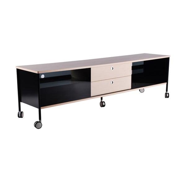 TV komoda Alessi 180 cm, čierna