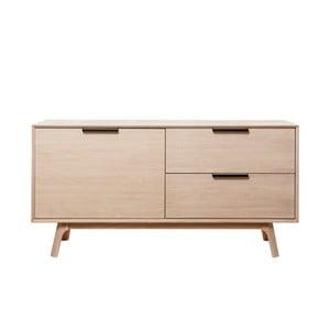 Nízká komoda z bieleho dubového dreva s 2 dvierkami Unique Furniture Vivara