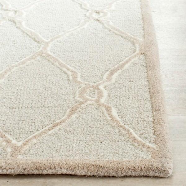 Vlnený koberec Augusta 91x152 cm, krémový