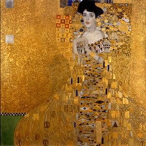 Reprodukcia obrazu Gustav Klimt Adele Bloch-Bauer I, 45x45cm