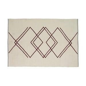 Béžový koberec Hübsch Kalimo, 120 × 180 cm