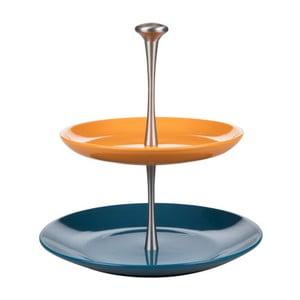 Modro-oranžový etažér Kaleidos Cake
