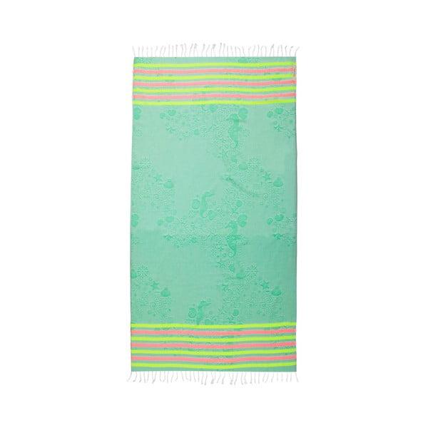 Hammam osuška Undersea Green, 105x175 cm