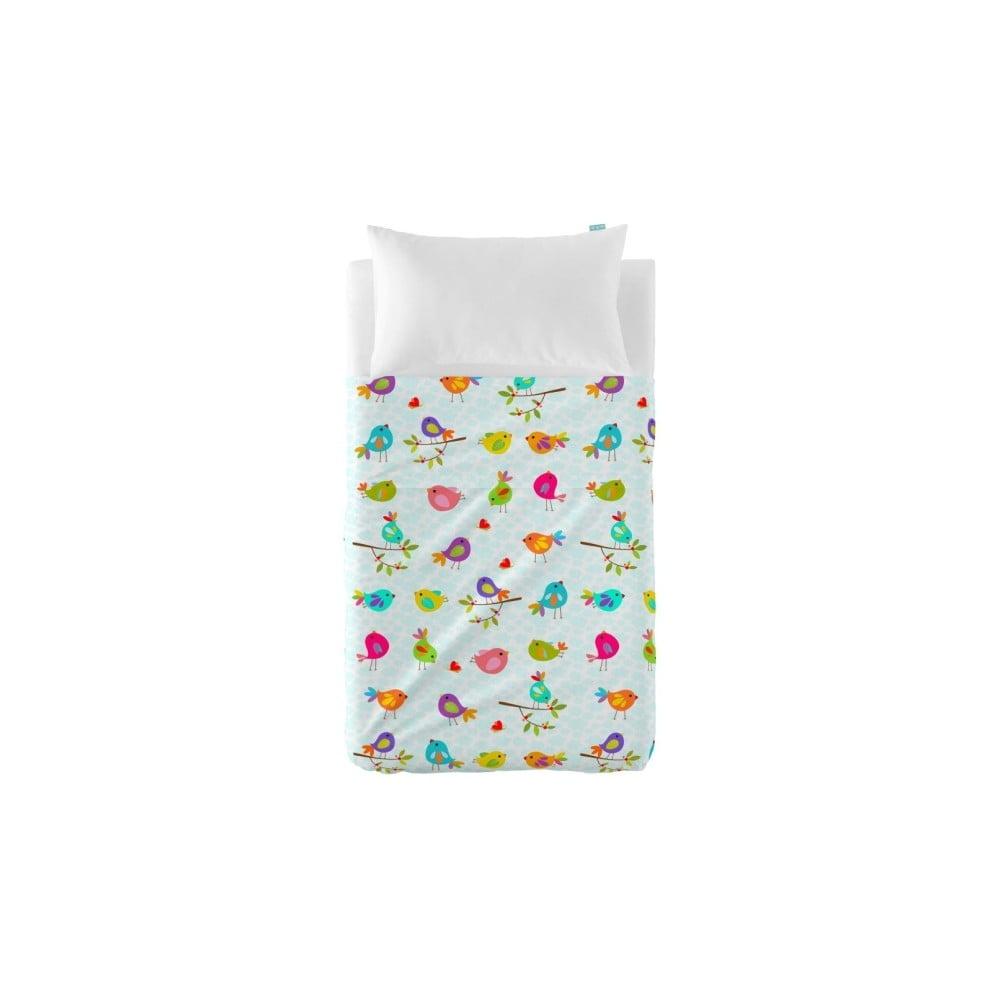 Set plachty a obliečky na vankúš Little W Happy Spring, 100 × 130 cm