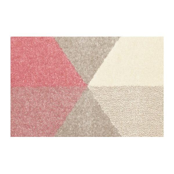 Koberec s ružovými detailmi Kokoon Muoto, 160×230 cm
