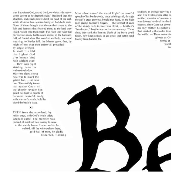 Knižný plagát Beowulf, 50x70 cm