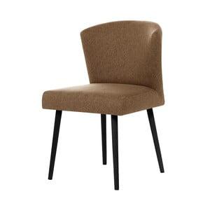 Hnedá jedálenská stolička s čiernymi nohami My Pop Design Richter