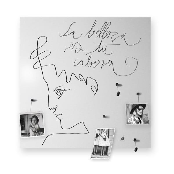 Magnetická tabuľa dESIGNoBJECT.it La Belleza, 50 x 50 cm