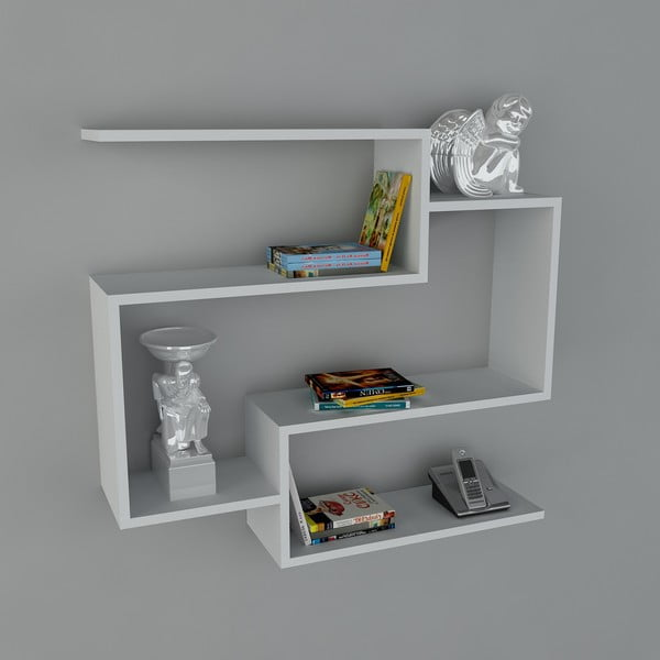 Polica Porto Book White, 22x90x82 cm