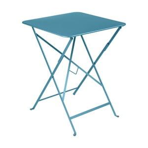 Modrý záhradný stolík Fermob Bistro, 57×57 cm