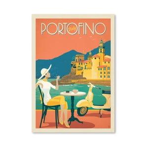 Plagát Americanflat Portofino, 42 x 30 cm