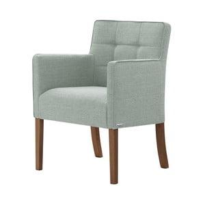 Svetlozelená stolička s tmavohnedými nohami Ted Lapidus Maison Freesia