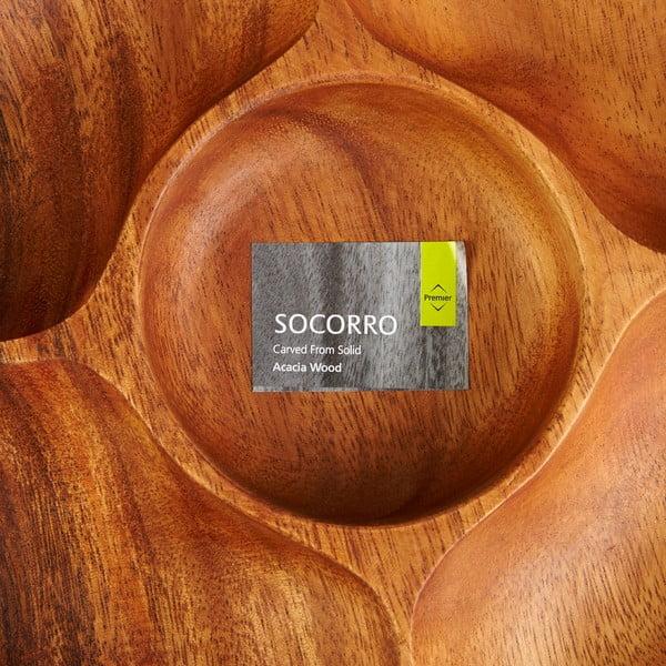 Delená servírovacia miska na pochutiny z agátového dreva Premier Housewares Socorro