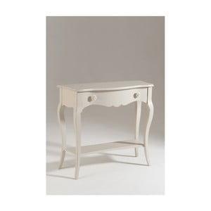 Biely drevený konzolový stolík Olle