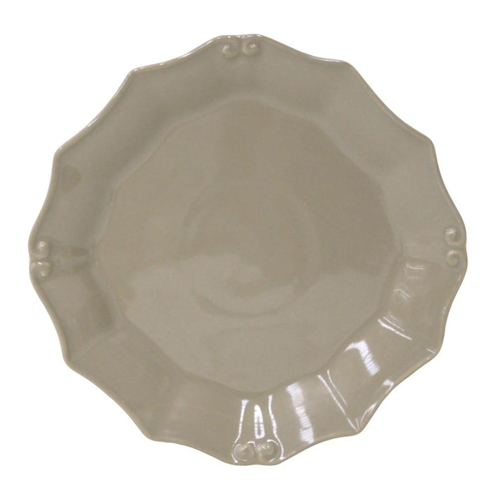 Sivohnedý tanier Costa Nova Barroco, Ø 21 cm
