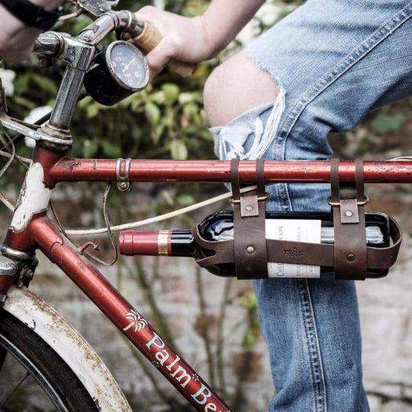 Kožený držiak vína na bicykel na Men's Society Wine Bottle Holder