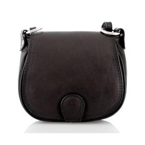 Čierna kožená kabelka Glorious Black Sibilia