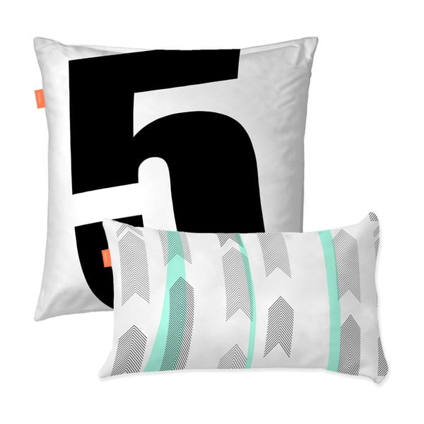 Sada 2 bavlnených obliečok na vankúš Blanc Five, 50×50 cm
