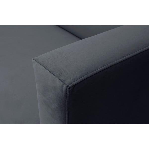 Tmavosivá trojmiestna pohovka Windsor & Co Sofas Neptune