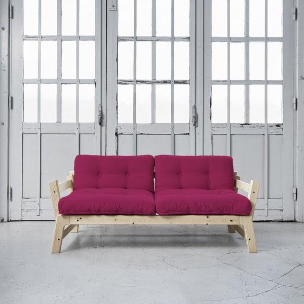 Rozkladacia pohovka Karup Step Natural/Pink