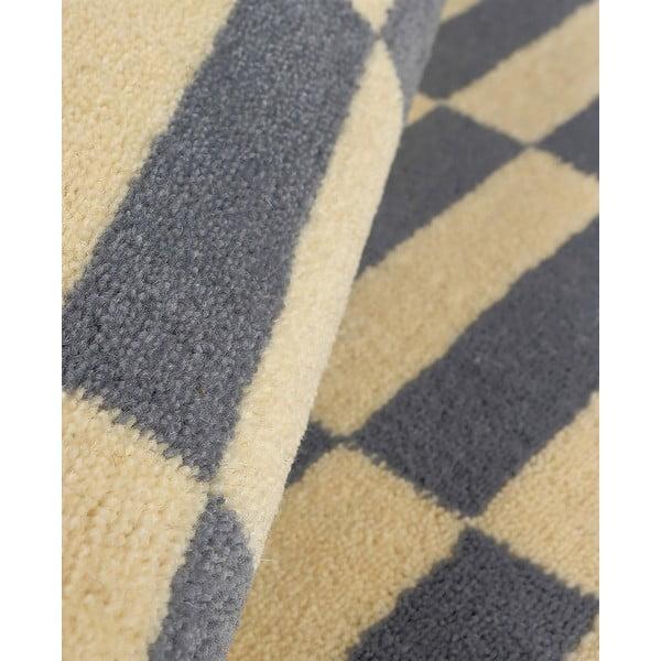 Vlnený koberec Oslo no.2, 140x200 cm, sivý