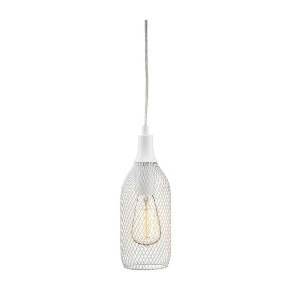 Biela závesné svetlo Markslöjd Grid,11cm