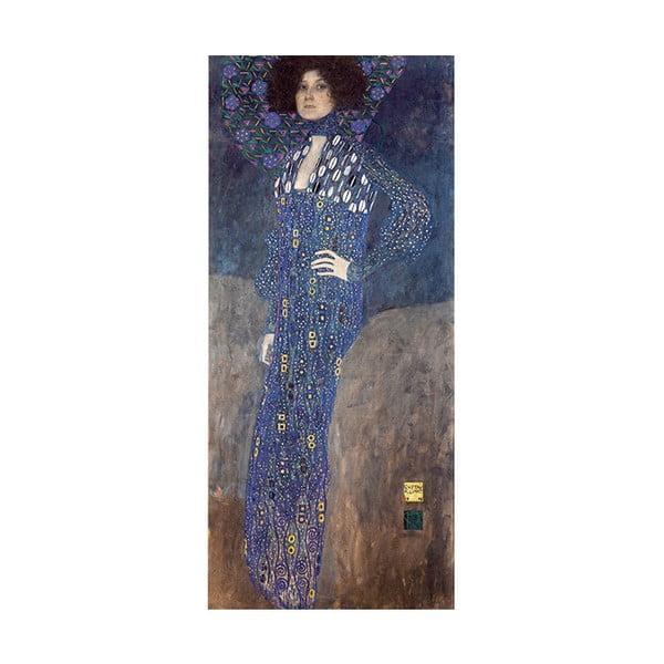 Reprodukcia obrazu Gustav Klimt - Emilie Flöge, 90x40cm