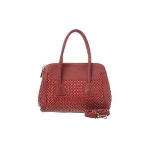 Kožená kabelka Twist Red