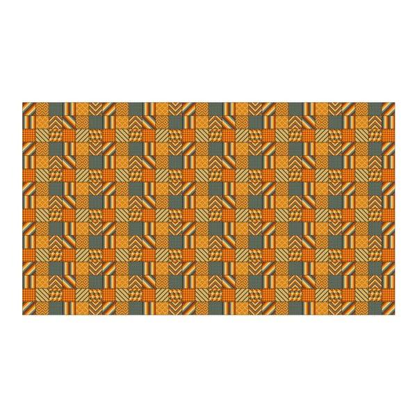 Vinylový koberec Kalia Orange, 52x180 cm