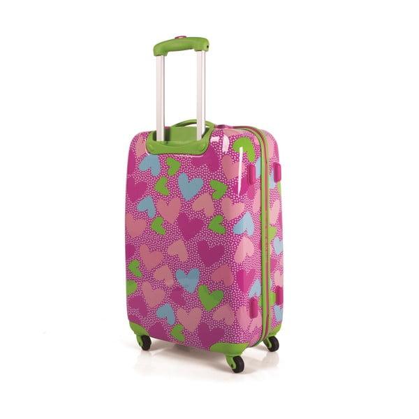 Sada 2 kufrov Agatha, ružová
