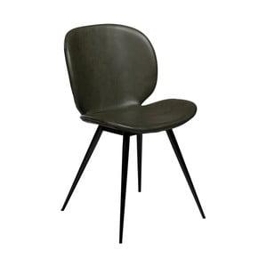 Tmavozelená jedálenská stolička z eko kože DAN–FORM Denmark Cloud