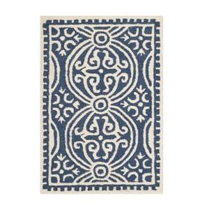 Vlnený koberec Marina Navy, 91x152 cm