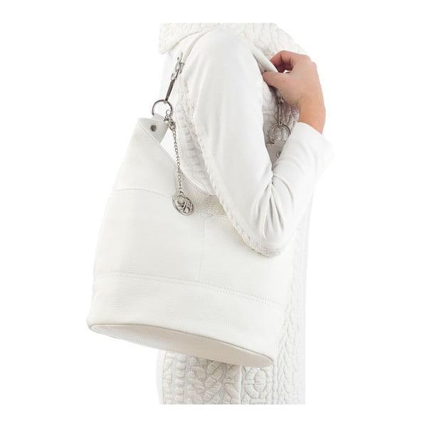 Kožená kabelka Guido, biela