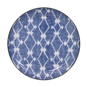 Modro-biely tanier Tokyo Design Studio Shibori, ⌀ 21,5 cm
