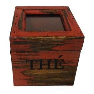 Box Thé Rouge Antique, 12x12 cm