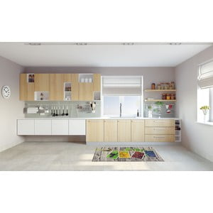 Vysokoodolný kuchynský koberec Webtappeti Fruits, 60 x 115 cm