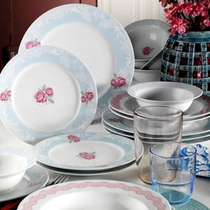 24-dielna sada porcelánového riadu Kutahya Lentolo