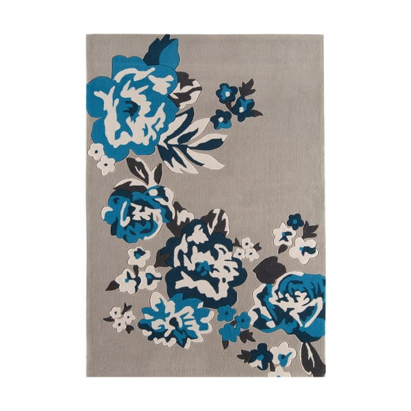 Koberec Harlequin Flora Blue, 120x170 cm