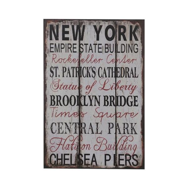 Drevený obraz New York, 25x38 cm