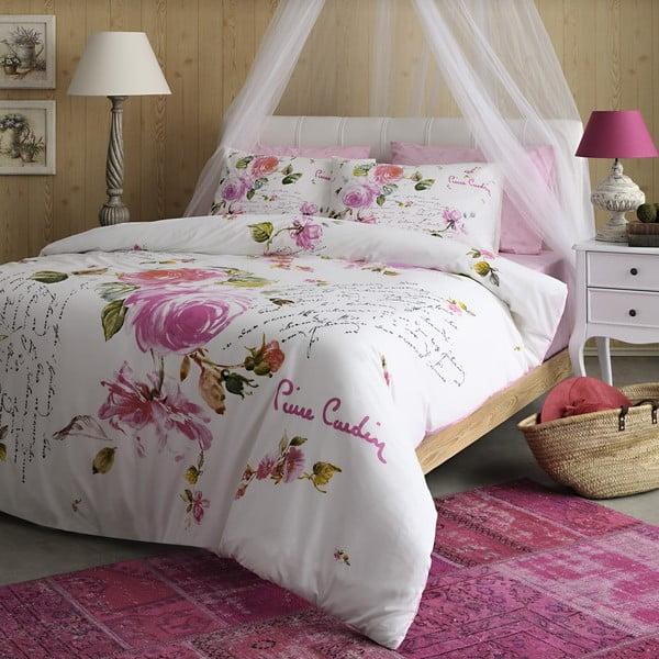 Obliečky Pierre Cardin Pink Roses s plachtou,200x220cm
