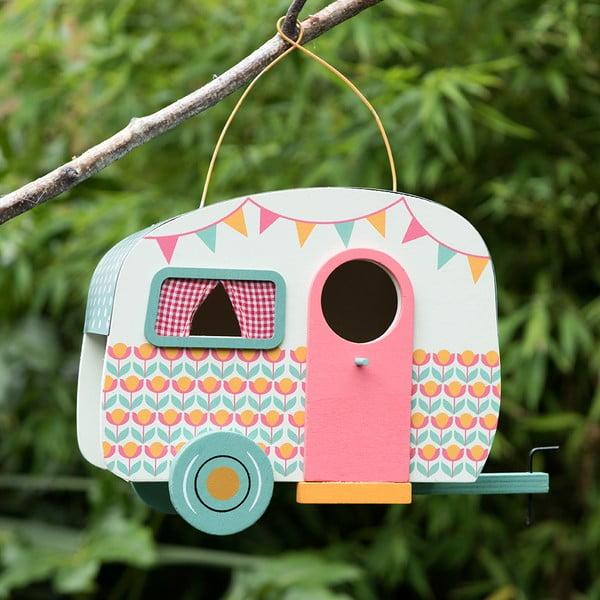 Drevená vtáčia búdka v tvare karavanu Rex London Frank