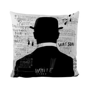 Vankúšik Black Shake White Collar, 40x40 cm